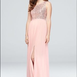 One Shoulder Sequin Bridesmaid Dress